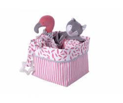Textilní krabice Kikadu Flamingo