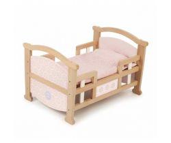 Dřevěná kolébka 2v1 Tidlo Pro panenky