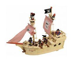 Dřevěná pirátská loď Tidlo
