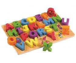 Dřevěná vkládací abeceda Tidlo