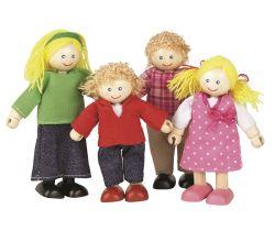 Dřevěné panenky do domečku Tidlo Rodina