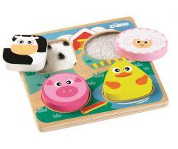 Senzorické puzzle Tidlo Farma