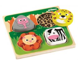 Senzorické puzzle Tidlo Safari