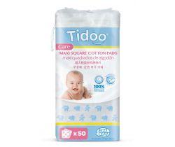 Ultra jemné bavlněné čistící tampony Tidoo Bio/Organic MAXI (50ks)