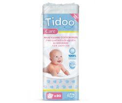 Ultra jemné bavlněné čistící tampony Tidoo Bio/Organic MAXI (80ks)