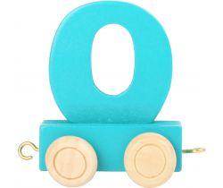 Vagónek dřevěné vláčkodráhy - barevné číslice