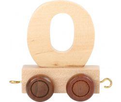 Vagónek dřevěné vláčkodráhy - přírodní číslice