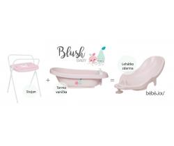 Termovanička + Lehátko + Stojan na vaničku Bébé-jou Blush Baby
