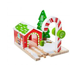 Vánoční jeřáb Bigjigs Rail