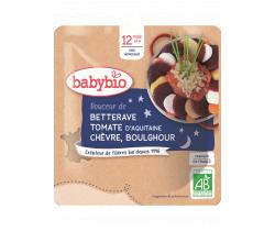 Večerní menu řepa rajče kozí sýr bulgur 190g Babybio