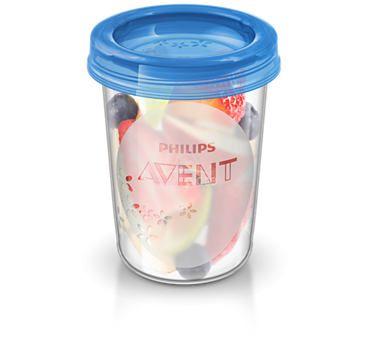 VIA pohárky 240 ml s víčkem 5 ks Avent