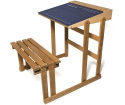 Dřevěná lavice s oboustrannou tabulkou Vilac