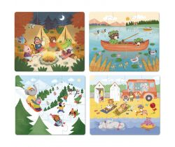 Dřevěné puzzle 4v1 Vilac Dobrodružství