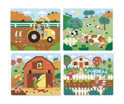 Dřevěné puzzle 4v1 Vilac Farma