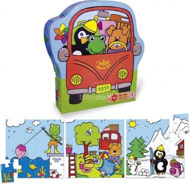 Dřevěné puzzle Vilac Prázdniny