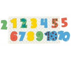 Dřevěné vkládací puzzle Vilac Čísla