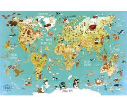Puzzle Vilac 500 dílků Mapa světa