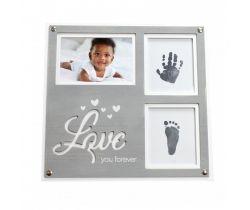 """Rámeček pro otisk Happy Hands Vintage Frame Print Kit """"Love you forever"""""""