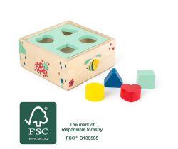 Vkládání tvarů Small Foot Lesní krabička