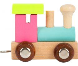 Vláček barevná lokomotiva Small Foot