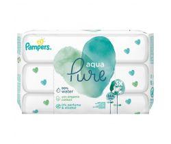 Vlhčené ubrousky 3x48 ks Pampers Pure Aqua