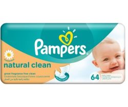 Vlhčené ubrousky 64 ks Pampers Natural Clean