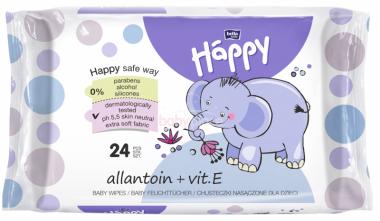 Vlhčené ubrousky 64 ks s vitamínem E + Allantoin Bella