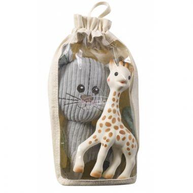 Vulli Lazare kocour plyšová hračka + Sophie žirafa kousátko