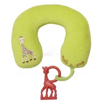 Vulli Sophie žirafa polštářek s vanilkovým kousátkem