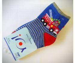 Vzorované ponožky YO Fire truck 3 ks