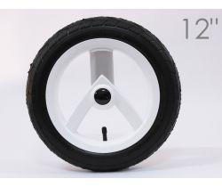 Zadní nafukovací kolečko bílá-stříbrná