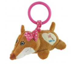 Plyšová závěsná hračka s vibrací BabyMix Fox Pink