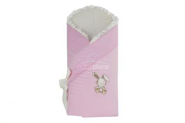 Zavinovačka měkká LittleUp Hare Pink