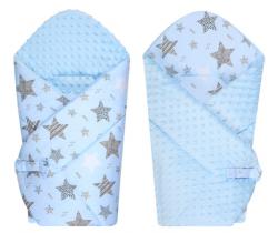 Zavinovačka měkká minky LittleUp Blue Stars