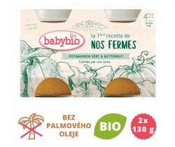 Zelená a máslová dýně z vlastní ekofarmy 2x130g Babybio