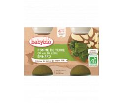 Zeleninový příkrm 2x130g Babybio Brambory se špenátem