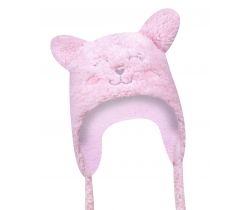 Zimní čepička Yo Cat Pink
