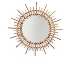 Zrcadlo kulaté 60 cm ratanové Childhome